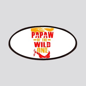 Mens Papaw Of The Wild One T-Shirt Funny Gif Patch