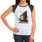 Play me if you dare (9 ball) Women's Cap Sleeve T-