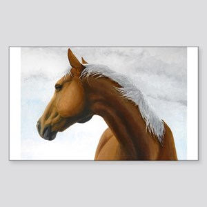 Palomino Stallion Rectangle Sticker
