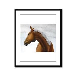 Palomino Stallion Framed Panel Print