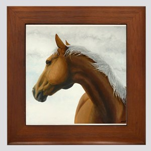 Palomino Stallion Framed Tile