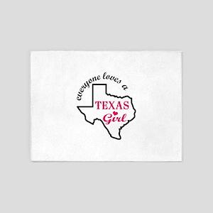 Texas Girl 5'x7'Area Rug