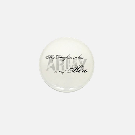 Daughter-in-law is my Hero ARMY Mini Button
