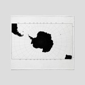 Antartic Map Throw Blanket