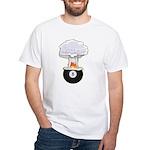 8 Ball Explosion White T-Shirt