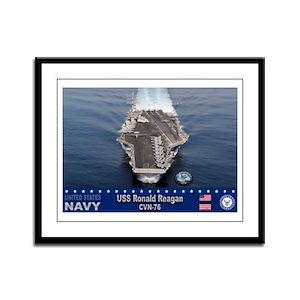 USS Ronald Reagan CVN-76 Framed Panel Print