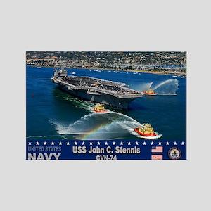 USS John C. Stennis CVN-74 Rectangle Magnet