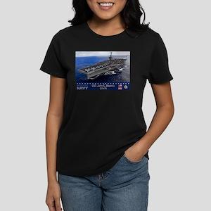 USS John C. Stennis CVN-74 Women's Dark T-Shirt