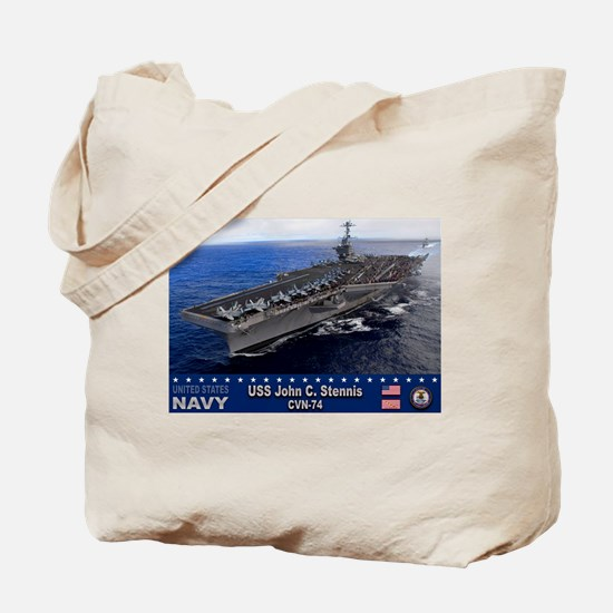 USS John C. Stennis CVN-74 Tote Bag