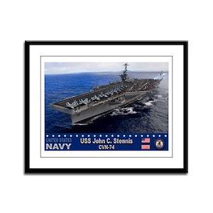 USS John C. Stennis CVN-74 Framed Panel Print