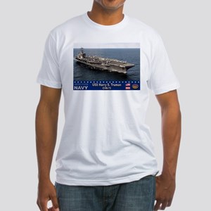 USS Harry S. Truman CVN-75 Fitted T-Shirt