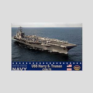 USS Harry S. Truman CVN-75 Rectangle Magnet