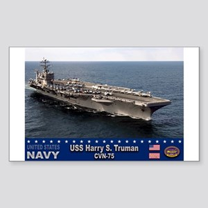 USS Harry S. Truman CVN-75 Rectangle Sticker