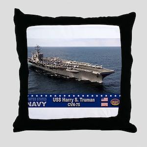 USS Harry S. Truman CVN-75 Throw Pillow