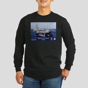 USS Harry S. Truman CVN-75 Long Sleeve Dark T-Shir