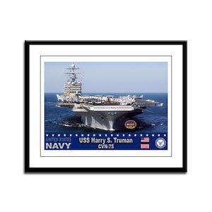 USS Harry S. Truman CVN-75 Framed Panel Print