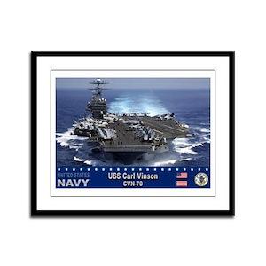 USS Carl Vinson CVN-70 Framed Panel Print