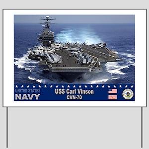 USS Carl Vinson CVN-70 Yard Sign