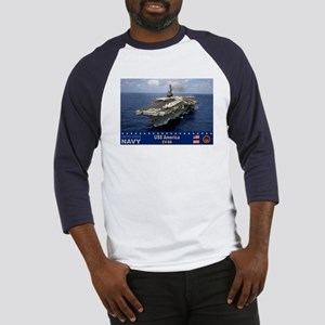 USS America CV-66 Baseball Jersey