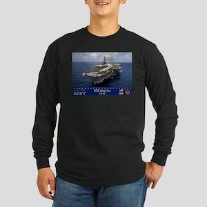 USS America CV-66 Long Sleeve Dark T-Shirt