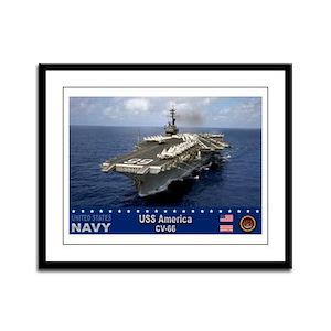 USS America CV-66 Framed Panel Print