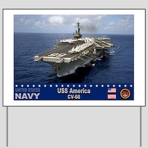 USS America CV-66 Yard Sign
