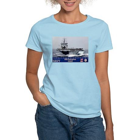 USS Enterprise CVN-65 Women's Light T-Shirt