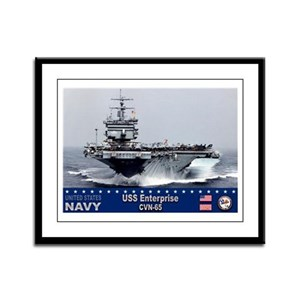 USS Enterprise CVN-65 Framed Panel Print