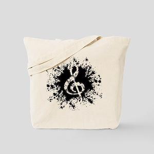 Treble Clef -splat Tote Bag