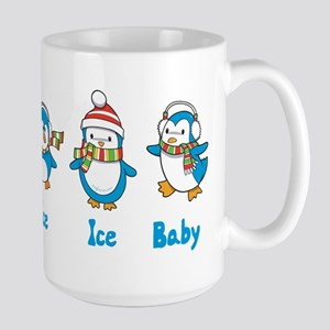 Ice Ice Baby Penguins Large Mug