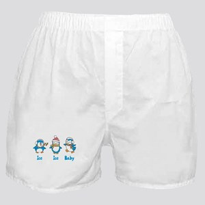 Ice Ice Baby Penguins Boxer Shorts