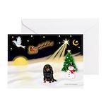 Night Flight/Dachshund LH Greeting Card