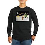 Night Flight/Dachshund LH Long Sleeve Dark T-Shirt
