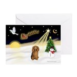 Night Flight/Dachshund LH Greeting Card