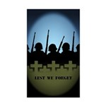 Lest We Forget Stickers 10 pack War Memorial Gifts