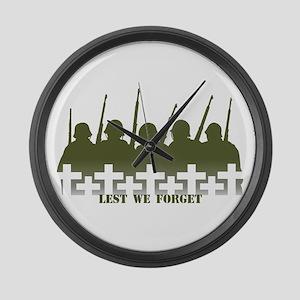 War Memorial Large Wall Clock Soldiers Tribute