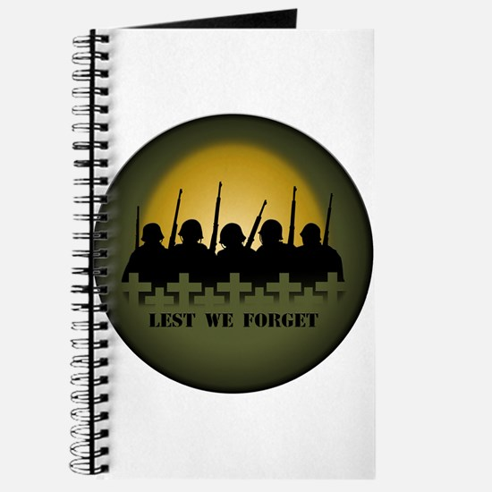 Lest We Forget Jounal Note Sketch Book War & P