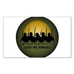 Lest We Forget Remembran Sticker (Rectangle 50 pk)