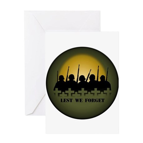 Lest We Forget Soldiers Tribute Greeting Card