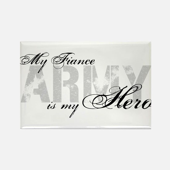 Fiance is my Hero ARMY Rectangle Magnet