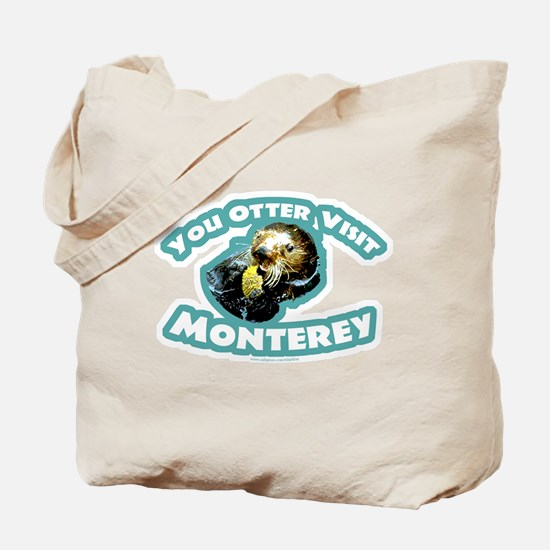 Monterey Otter Tote Bag