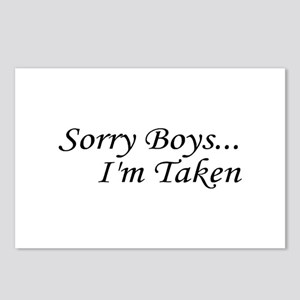 Sorry Boys...I'm Taken Postcards (Package of 8)