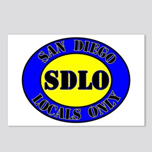SAN DIEGO LOCALS ONLY Postcards (Package of 8)
