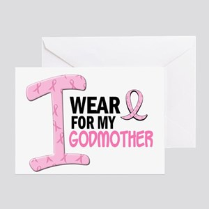 I Wear Pink For My Godmother 21 Greeting Card