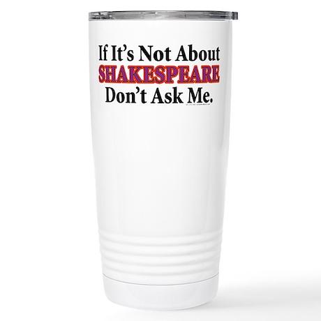 Shakespeare Stainless Steel Travel Mug