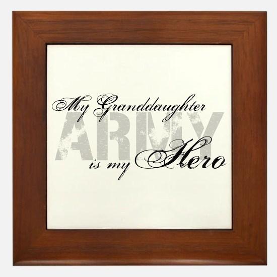 Granddaughter is my Hero ARMY Framed Tile
