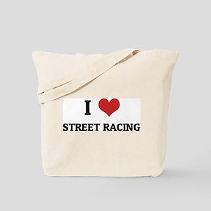 I Love Street Racing Tote Bag