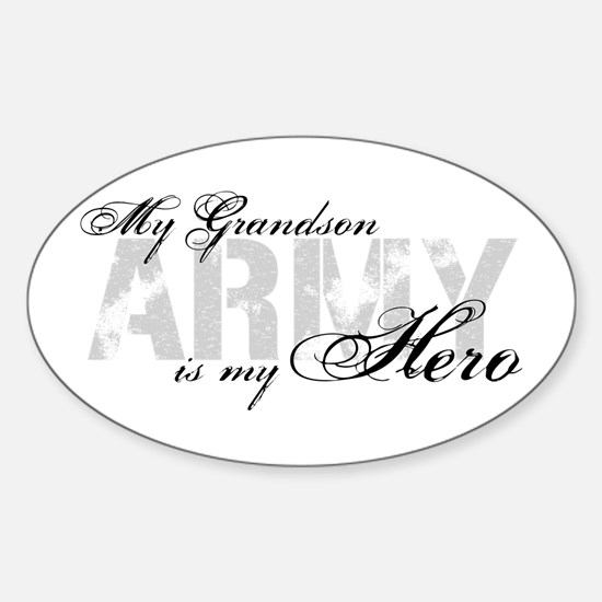 Grandson is my Hero ARMY Oval Decal