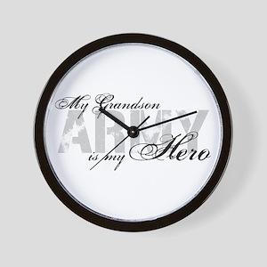 Grandson is my Hero ARMY Wall Clock