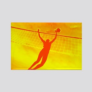 VOLLEYBALL ORANGE Rectangle Magnet